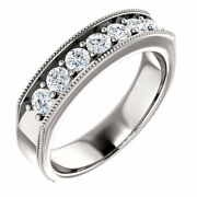 G-h Si2-si3 Diamond Menand039s Wedding Band In 14k White Gold 7/8 Ct. Tw.