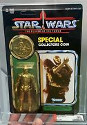 Afa 90 Star Wars 1985 Kenner Potf C-3po Removable Limbs 90-90-90 Unpunched Y-nm+