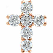 Diamond Cross 18 Necklace In 14k Rose Gold 1 1/2 Ct. Tw.