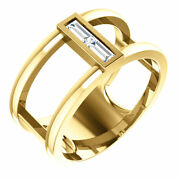 Diamond Baguette Negative Space Ring In 14k Yellow Gold 1/4 Ct. Tw.