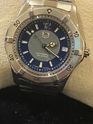 Rare Tag Heuer Ref Wk2114 Automatic 200m Blue 2-tone Dial 37mm Diver's Watch