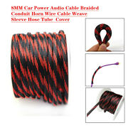 8mm Auto Car Expandable Braided Conduit Wire Cable Weave Sleeve Hose Cover Tube