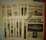 Vtg Woodsmith Magazine Notes From The Shop 24 Copies + Booklet 12