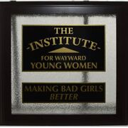 7362a Politically Incorrect Glass Sign The Institute For Wayward Young Women 24