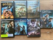 Harry Potter Dvd Movie Set, Lot Of 7, 1,2,4,5,6,7,7 One New, One Blu Ray