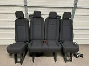 2015-2020 Ford Transit Oem Seat Charcoal Cloth Last 5th Row Seat Complete