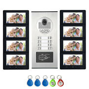 8 Units Apartment Video Intercom Door Phone Id System 7 Monitor For 8 Household