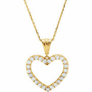 Diamond Heart 18 Necklace In 14k Yellow Gold 1.00 Ct. Tw.