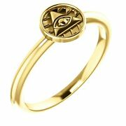 Eye Of Providence Stackable Ring In 14k Yellow Gold