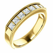 G-h Si2-si3 Diamond Menand039s Wedding Band In 14k Yellow Gold 9/10 Ct. Tw.