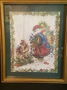 Home Interiors Peggy Abrams Santa And Kids 18 1/2 X 15 1/2 Framed Picture