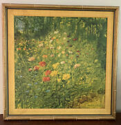Malcolm Thompson Wildflower Patch Meadow Landscape Painting Garden Faux Bamboo