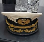 Wwii Japanese Captain Or Admiral Navy Hat Collectible Antique Large Size