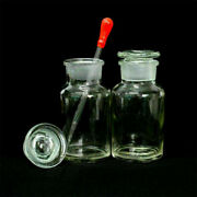 Transparent Ground Glass Wide Mouth Stopper 250ml Glass With Drop Reagent Bottle