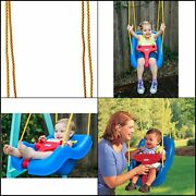 Little Tikes 2-in-1 Snug 'n Secure Grow With Me Outdoor Baby Swing, Blue