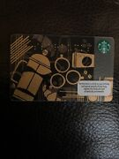Braille Black Gold Vintage Coffee Brown Starbucks Gift Card Free Shipping