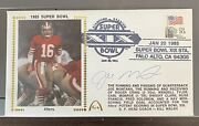 1985 Joe Montana 16 Super Bowl X1x Gateway Stamp Fdc 49ers Vs. Dolphins 100 Au