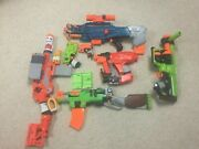 Nerf Zombie Strike Lot With 20 Darts---see Description