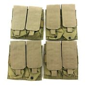 New Eagle Industries Khaki Double Mag Pouch 2 X 2 Magazine Sflcs 4 Pack