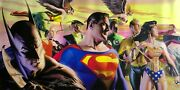 Alex Ross Rare In The Light Of Justice Oversized Canvas Pp3 Unframed Signed Coa