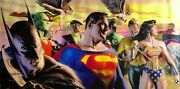 Alex Ross In The Light Of Justice Super Oversized Canvas Dxx Ap1 Unframed Signed