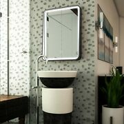 Led Lighted Shelf Mirror, Touch Switch, Defogger And Cct Remembrance Raven Style