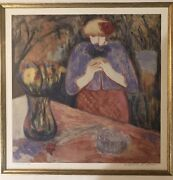 Make Offers Rare Barbara A Wood Art In A Fine Frame. Signed And Artist Proof.