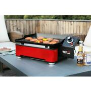 Table Top Gas Griddle Grill Stainless Steel Portable 1 Burner Outdoor Bbq Camp