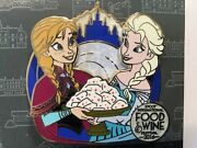 Disney Pin Trading Le5000 Le Elsa And Anna Food And Wine Spinner Festival Epcot L10
