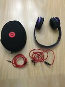 Beats By Dr. Dre Solo Hd Headband Headphones - Purple With Case