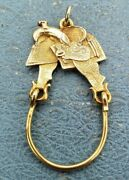 James Avery Retired 14k Large Texas Saddle Charm Holder Rare And Tough To Find