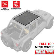 Bikini Top Cover For Jeeps Full Top 69x42.5 Mesh Sunshade By Motor Trend