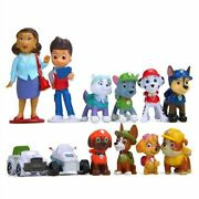 Paw Patrol Cake Topper Toy Set 12 Figure Birthday Gift Playset Doll Fast Ship Us