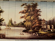 Expansive Oriental Water Scene / Exceptional Large Wallpaper Mural 9andrsquox 15andrsquo