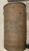 Antique Krak-r-jak Biscuits Union Biscuit Co. Barrel 29 Tall Rare Advertising