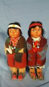 Pair Of Skookum Bully Good Indian Dolls 1930and039s