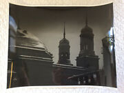 A. Aubrey Bodine - Cathedral Night 1946 - Signed Print Baltimore Basilica
