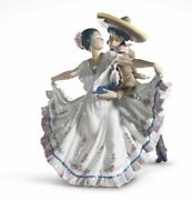 New Lladro Retired Mexican Dancers Gloss 01005415 5415.