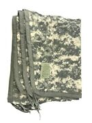 Military All Weather Poncho Liner Acu Camo Woobie Blanket Us Army Camping