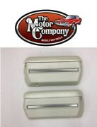 1968 1969 1970 Chevelle Armrest Pads And Base With Stainless Trim Pearl J1920xst