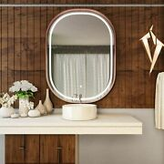 36x48 Inch Led Lighted Bathroom Mirror, Cct Remembrance And Touch Sensor Switch
