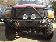 99-04 Superduty Prerunner Plate And Tube Winch Bumper Hard Knox Fab Works