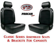 Scat Classic Series 80-1500-71 Seats And Brackets Set For 1967-2002 Chevy Camaro