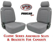 Scat Classic Series 80-1500-62 Seats And Brackets Set For 1967-2002 Chevy Camaro