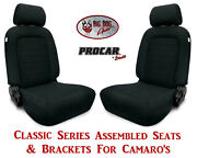 Scat Classic Series 80-1500-61 Seats And Brackets Set For 1967-2002 Chevy Camaro
