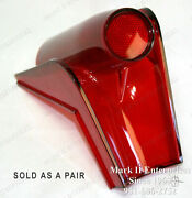 1958 58 Mercury Tail Light Lamp Lenses Left And Right Pair Nos Quality Few12351