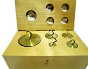 Vintage Brass Balance Apothecary Jewelers Scale Cylinder Weights Collectible