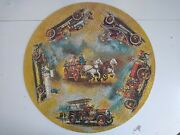 1971 Springbok Circular Jigsaw Puzzle Antique Fire Engines 100 Complete Round