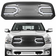 Front Big Horn Black Grille Shell With Light For 2013-2018 Dodge Ram 1500