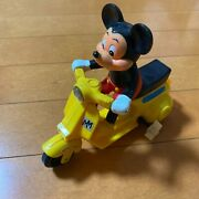 Masudaya Disney Mickey Mouse Yellow Scooter Japanese Vintage Wind-up Toy From Jp